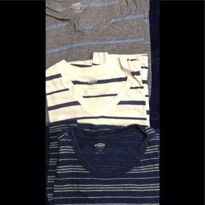 Old Navy V-neck T-shirts x3